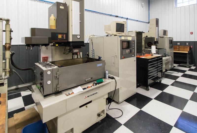 Mitsubishi M25K and M35K EDM machines at Eden Tool